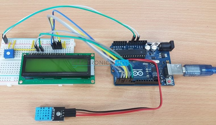 Dht11 Humidity And Temperature Sensor On Arduino With Lcd
