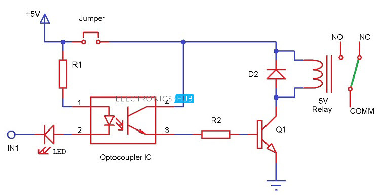 automatic room lighting system using microcontroller rh electronicshub org 4 channel relay module circuit diagram 2 relay module circuit diagram