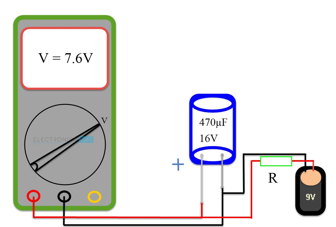 How To Test A Capacitor Do Capacitors Work In Circuit Method 4 With Simple Voltmeter