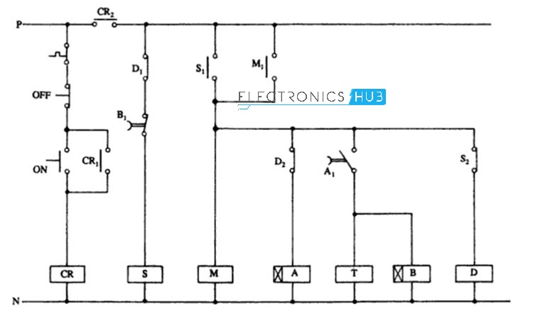 star delta starter for 3 phase motor rh electronicshub org wiring diagram for telemecanique star delta starter wiring diagram 3 phase star delta starter