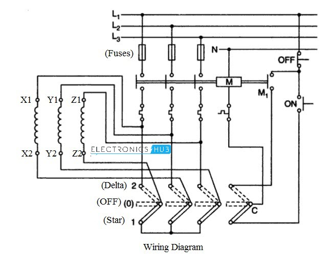 4 Manual Star Delta Starter with Push Button star delta starter for 3 phase motor star delta starter wiring diagram explanation pdf at fashall.co