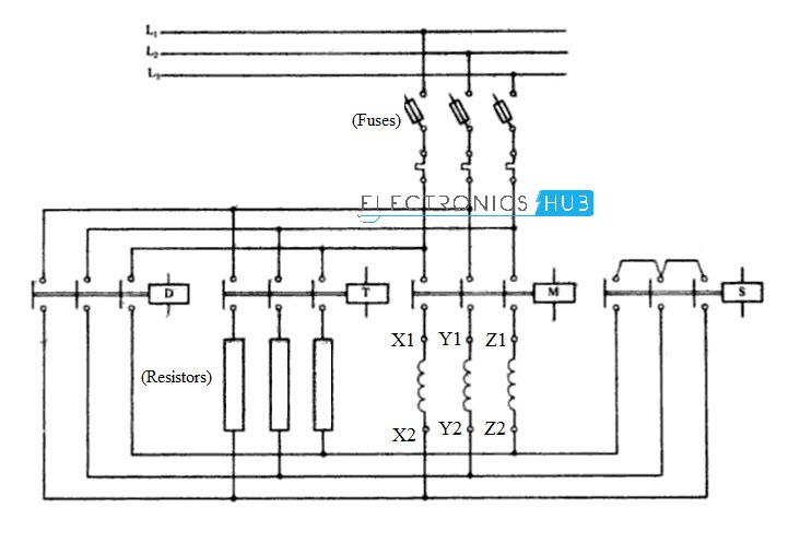 star delta starter for 3 phase motor simple star delta starter control circuit diagram electrical installation basic