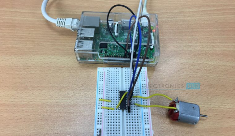 Controlling a DC Motor with Raspberry Pi and Python on