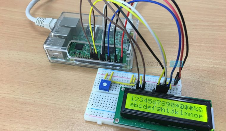 Interfacing 16x2 LCD with Raspberry Pi using Python