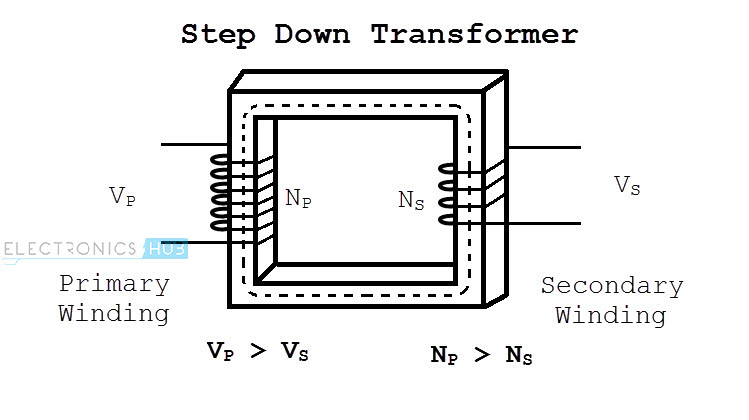 Wiring Diagram For Step Down Transformer : Step down transformer working applications and rating