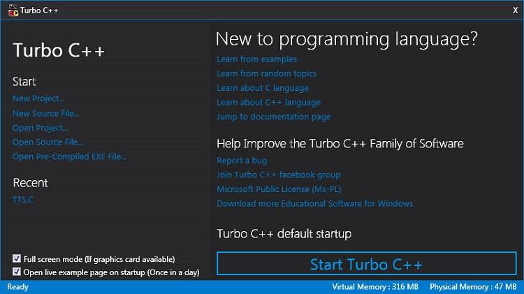 Turbo C for Windows Image 2