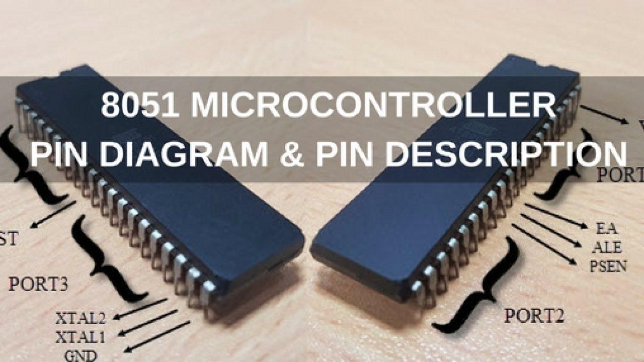 8051 Microcontroller Pin Diagram Pin Description Basic Circuit