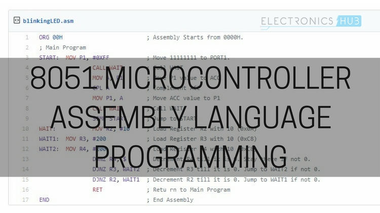 8051 Microcontroller Assembly Language Programming
