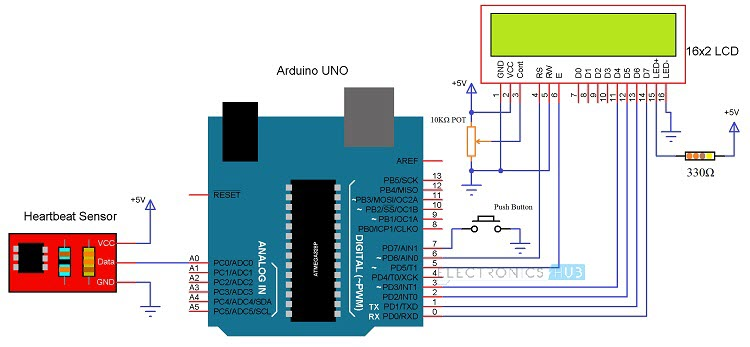 Heartbeat Sensor Circuit Diagram