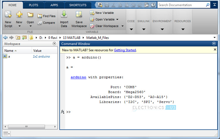 Arduino MATLAB Interface Image 3