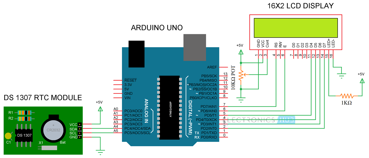 Arduino real time clock rtc tutorial using ds