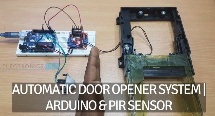 Automatic Door Opener using Arduino and PIR Sensor