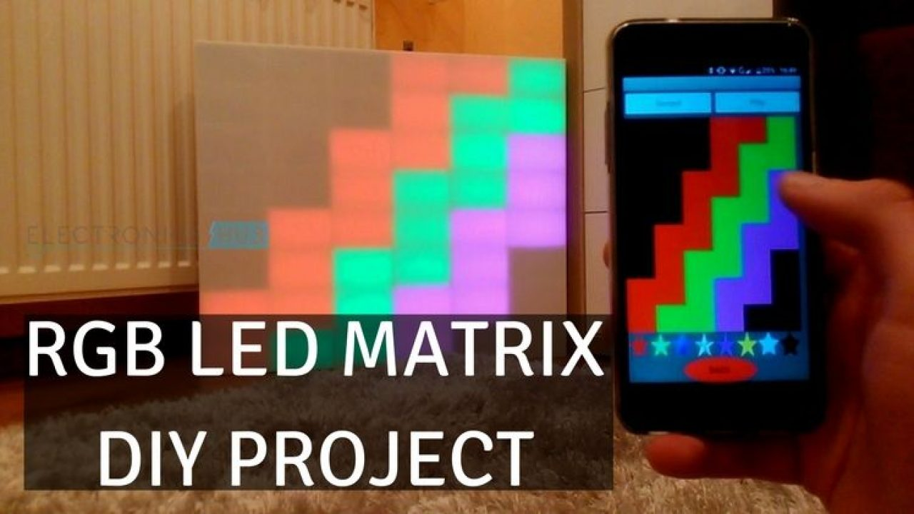 DIY RGB LED Matrix using Arduino, Bluetooth, Android App