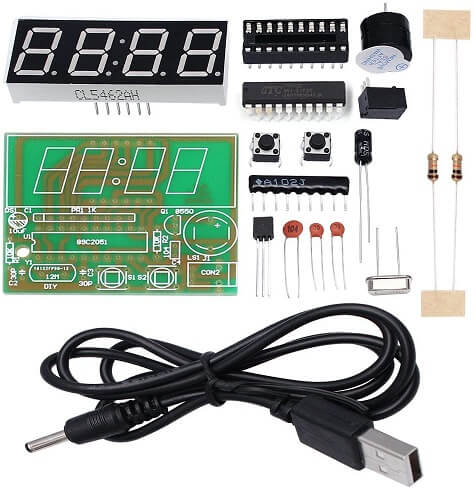 WHDTS 4-Digit Digital Clock Kits