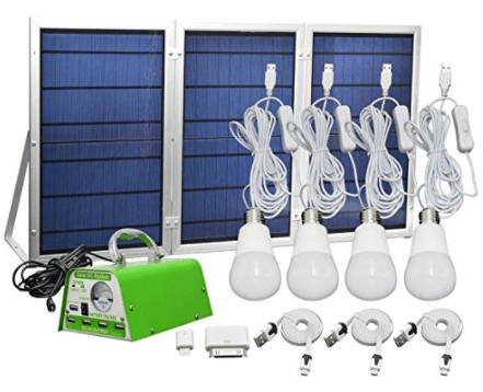 HKYH Solar Panel Lighting Kit, Solar Home DC System Kit
