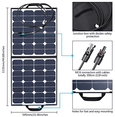 MOHOO 100W Bendable Foldable Thin Lightweight Solar Panel