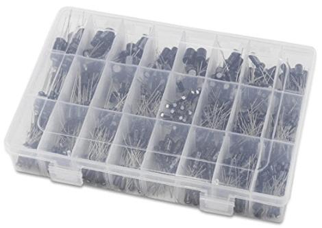 OCR 24Value 500pcs Electrolytic Capacitor Assortment Box Kit Range