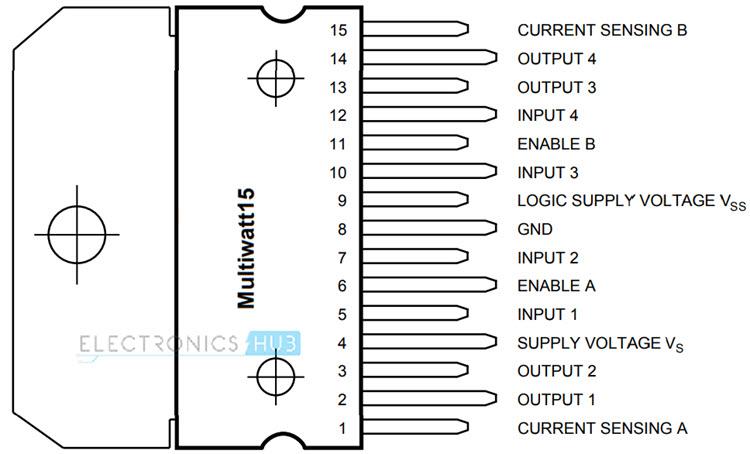 Raspberry Pi L298N Motor Driver Pin Diagram