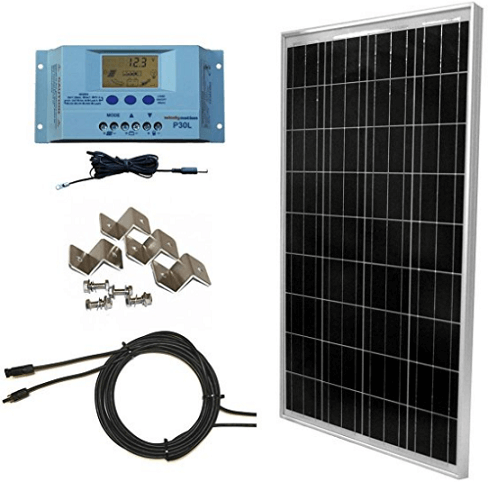 WindyNation 100 Watt Solar Panel Off-Grid RV Boat Kit