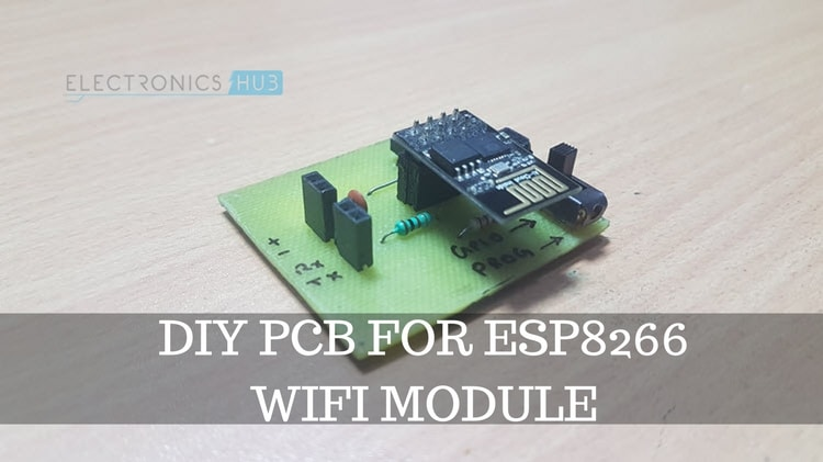 DIY PCB for ESP8266 WiFi Module Featured Image