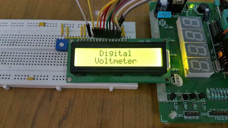 Digital Voltmeter using 8051 Microcontroller and Voltage Sensor Image 1