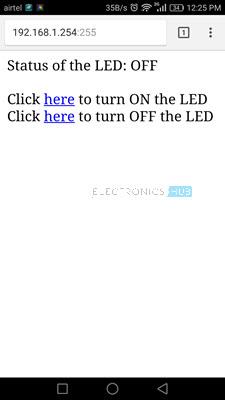 How to Control ESP8266 Over Internet Sceenshot
