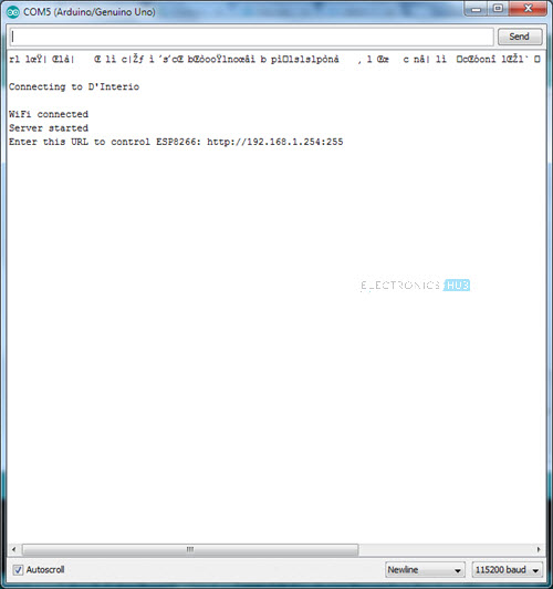 How to Control ESP8266 Over Internet Serial Monitor