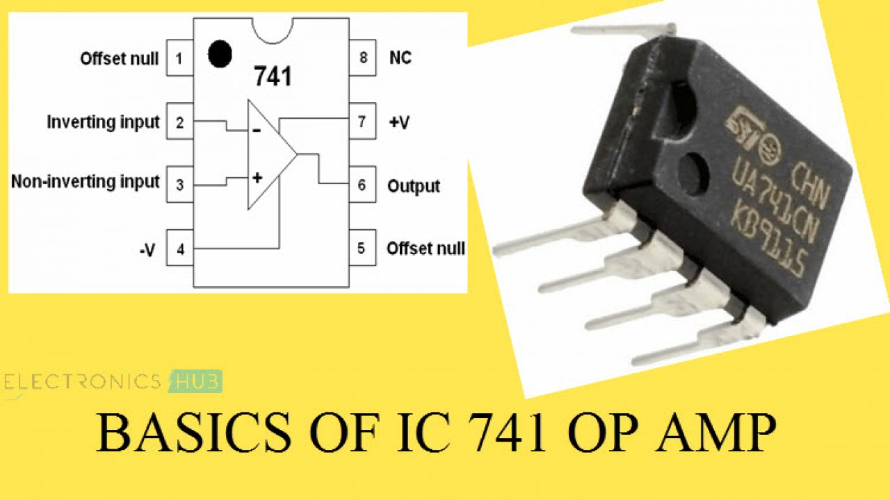 IC 741 Op Amp Basics, Characteristics, Pin Configuration ... Op Amp Pin Diagram on