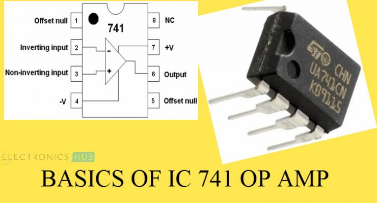 IC 741 Op Amp Basics, Characteristics, Pin Configuration, Applications