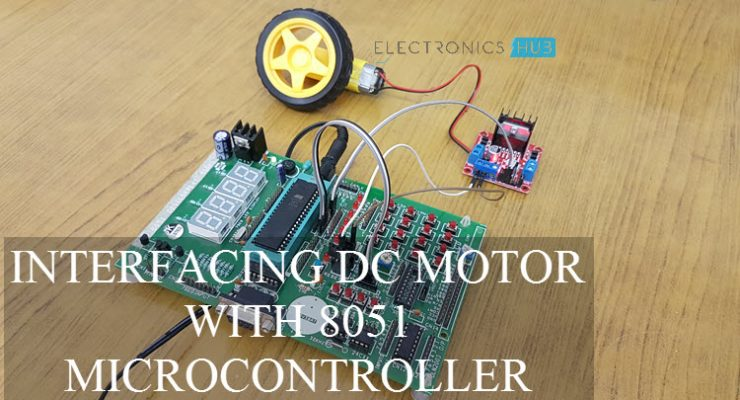Interfacing DC Motor with 8051 Microcontroller using L298N Featured Image