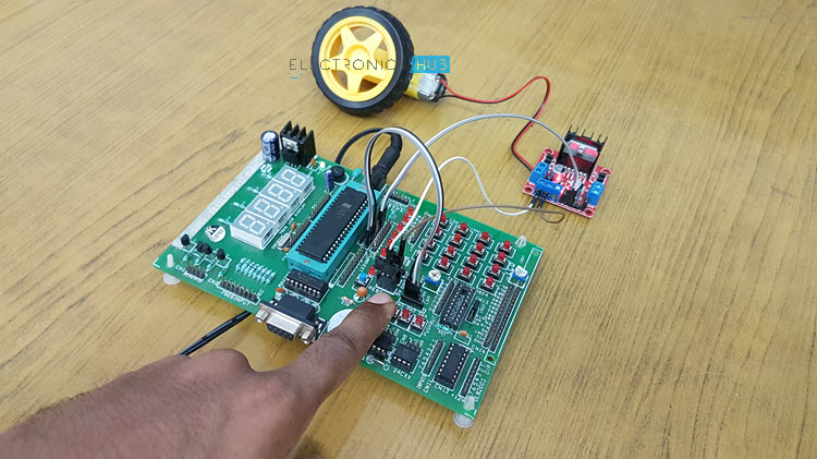 Interfacing DC Motor with 8051 Microcontroller using L298N Image 1