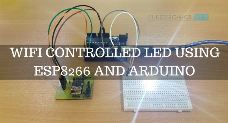 WiFi Controlled LED using ESP8266 and Arduino