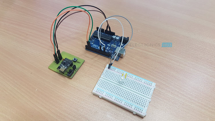 WiFi Controlled LED using ESP8266 and Arduino Image 1