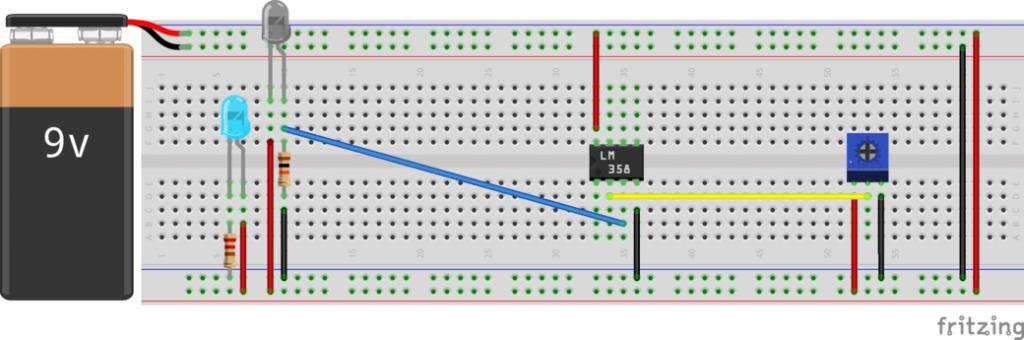 Adjustable IR Proximity Sensor Voltage Divider Conn