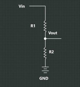 Adjustable IR Proximity Sensor Voltage Divider Schematic