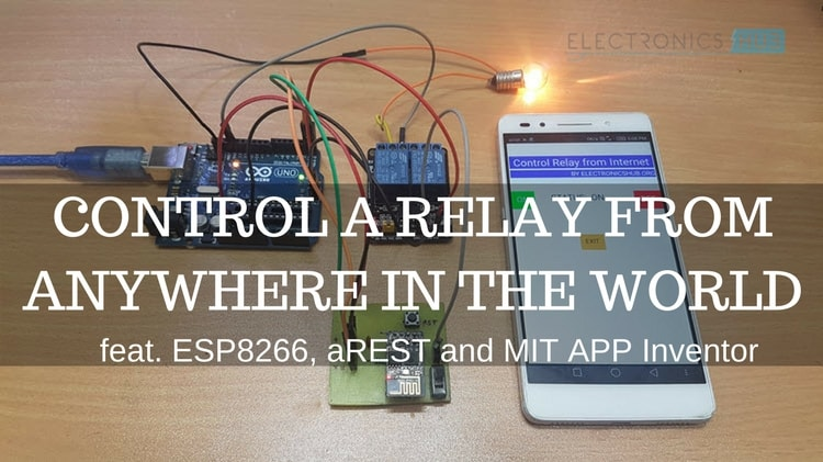 Control a Relay from anywhere in the World using ESP8266 Featured Image