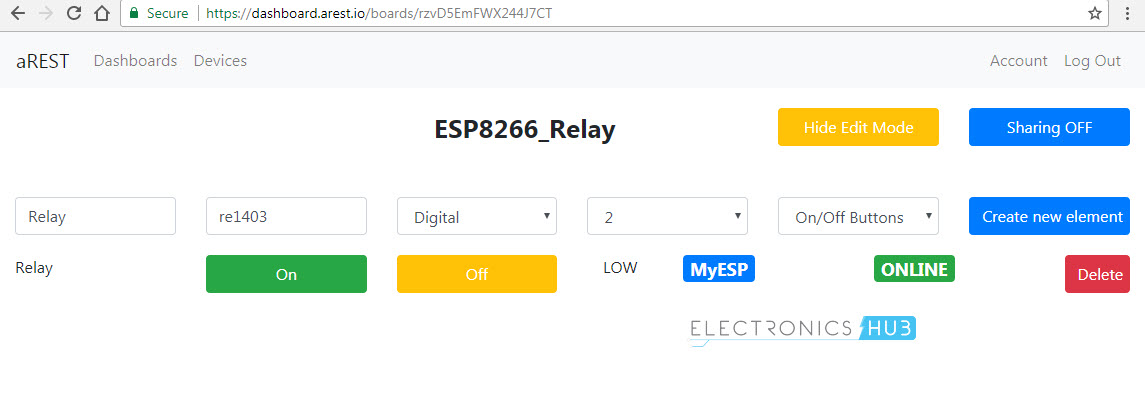 Control a Relay from anywhere in the World using ESP8266 aREST Image 3