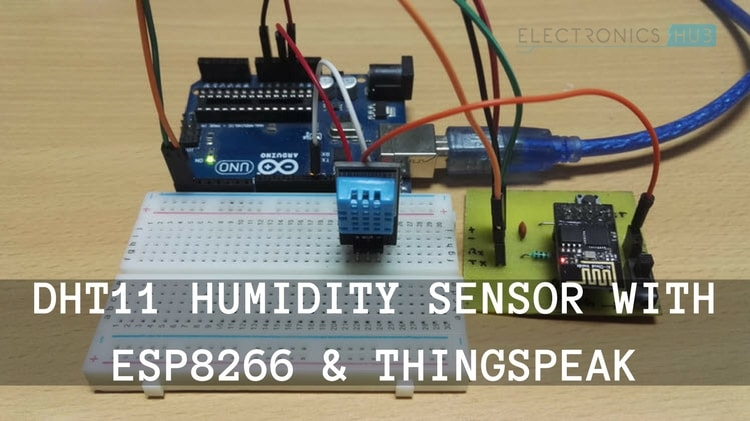 DHT11 Humidity Sensor with ESP8266 and ThingSpeak Featured Image