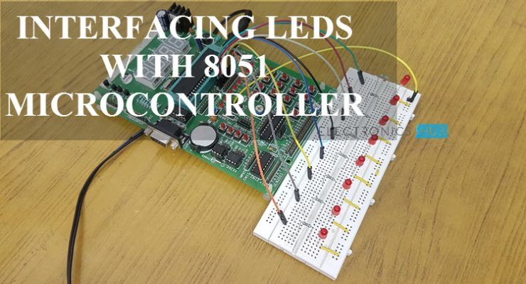 Interfacing LED with 8051 Microcontroller Featured Image
