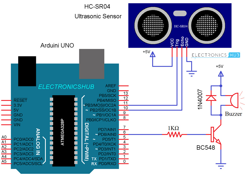 Arduino Car Reverse Parking Sensor
