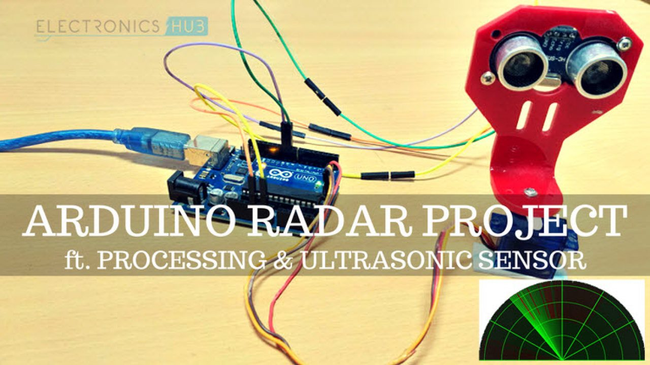 Arduino Radar Project using Processing, Ultrasonic Sensor, Servo