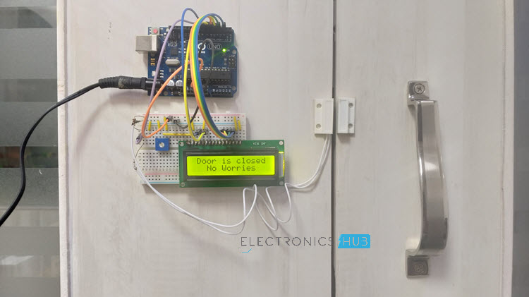 Arduino based Door Monitoring System using Reed Switch Image 1