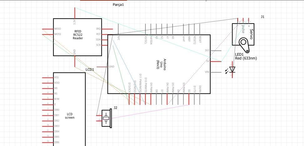 Encrypted Login System Raw Circuit Diagram