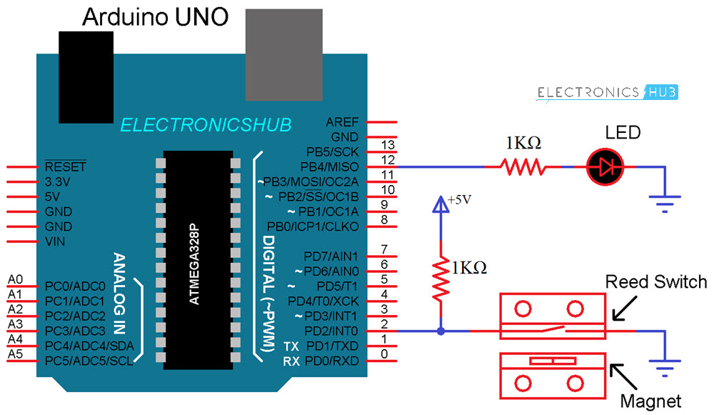 How to Connect Reed Switch with Arduino Circuit Diagram