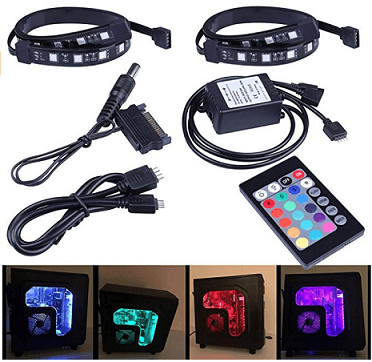 LEDdess Full Kit RGB LED Strip Computer Lighting