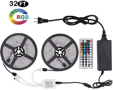 Sunnest 2 Reels 12V 32.8ft Waterproof Flexible LED Strip Light Kit