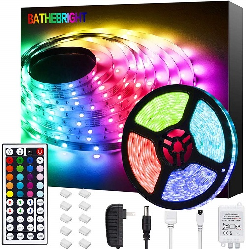 Home Theater Theatre floor LED Lighting Strip SMD 5050 300 LEDs 20//ft YELLOW