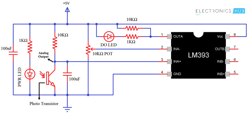 arduino flame sensor interface working circuit diagram code rh electronicshub org  arduino flame sensor circuit diagram