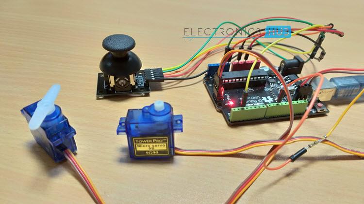 Arduino Joystick Interface Joystick Servos