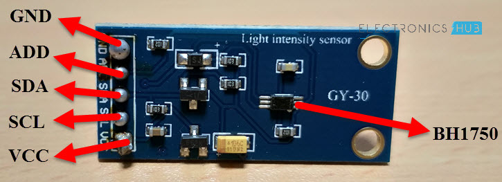 BH1750 Ambient Light Sensor Module Pin Out